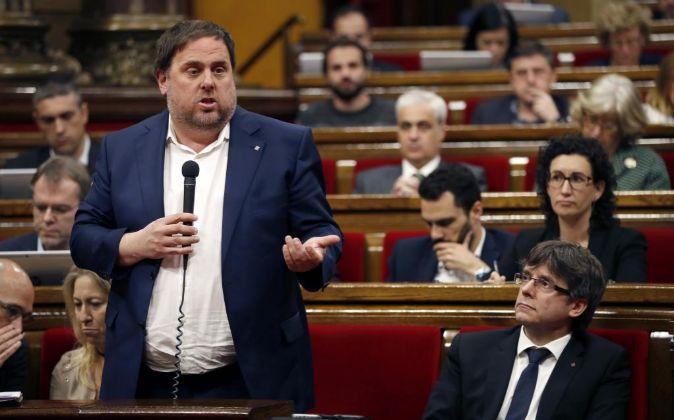 El vicepresidente de la Generalitat y conseller de Economía Oriol...