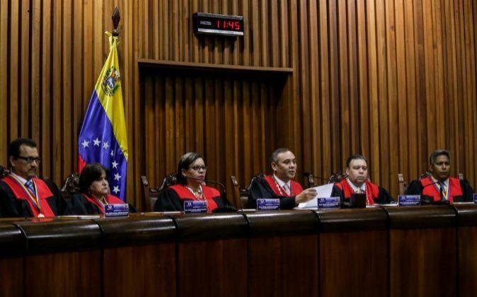 El presidente del Tribunal Supremo de Justicia (TSJ) de Venezuela,...