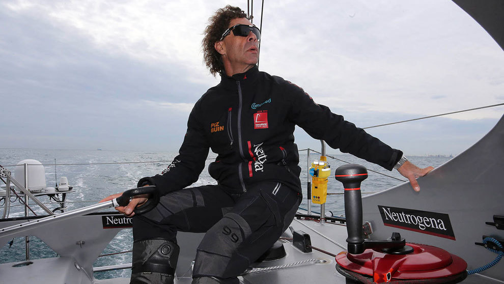 Guillermo Altadill, a bordo del Neutrogena   Jorge Andreu