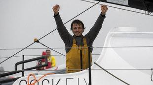 Didac Costa, a su llegada a Les Sables d'Olonne este jueves |...
