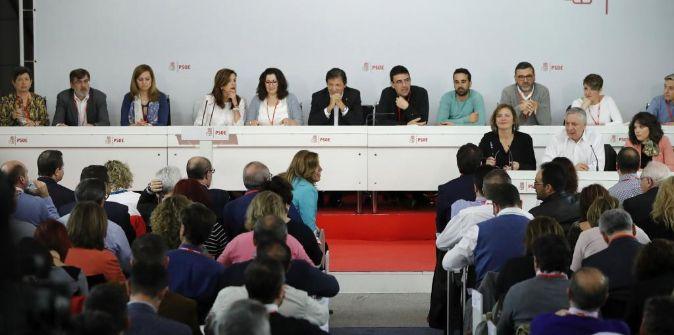 Reunión que el Comité Federal del PSOE celebra este sábado en la...