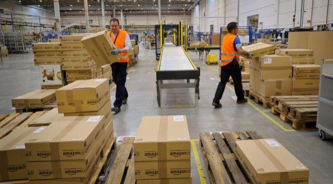 Centro logístico de Amazon en San Fernando de Henares (Madrid).