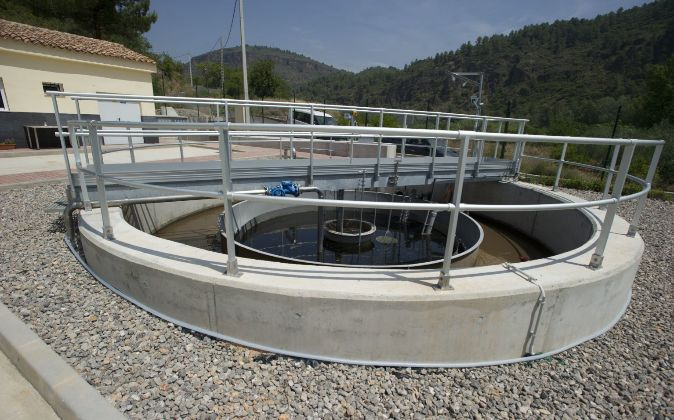 Una estación de depuración en la provincia de Castellón.