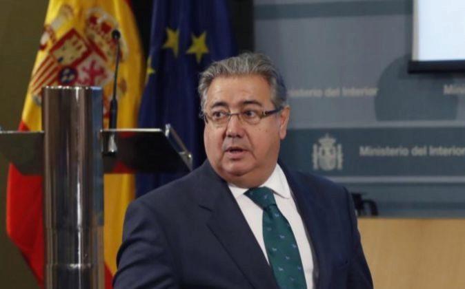 El ministro del Interior, Juan Ignacio Zoido, al inicio de la...