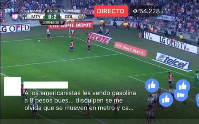 Imagen de la retransmisión de un partido de fútbol a través de...
