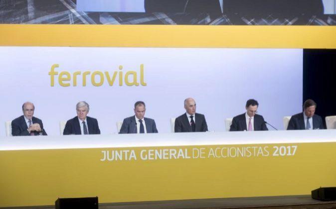 Imagen de la Junta general de accionistas de Ferrovial celebrada hoy.