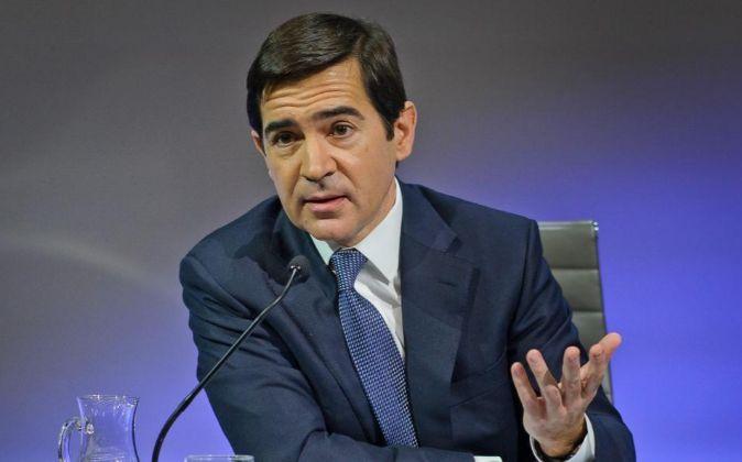 CARLOS TORRES, CONSEJERO DELEGADO DE BBVA, EN LA PRESENTACION DE...
