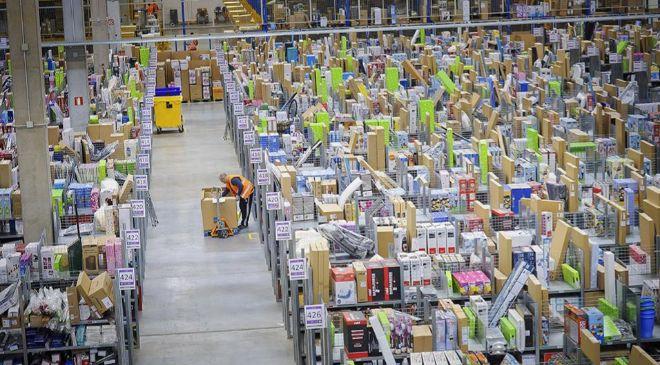 Centro logístico de Amazon.