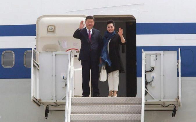 Xi Jinping tras aterrizar en Estados Unidos.