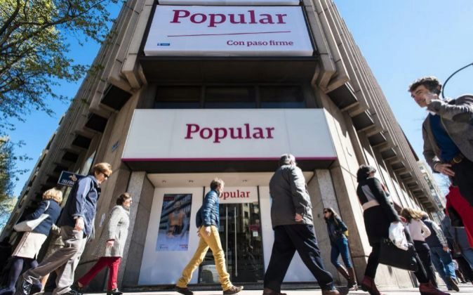 Sucursal de Banco Popular en Madrid.