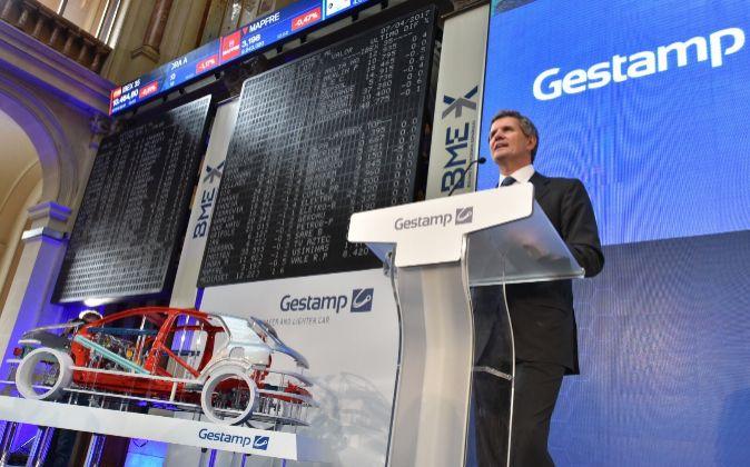 Francisco Riberas, el presidente de Gestamp, en la Bolsa de Madrid...