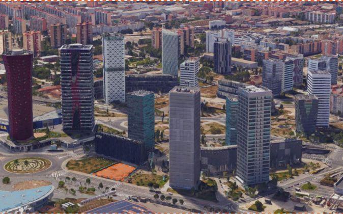 En la imagen, sombreado, el terreno adquirido por Activum SG.