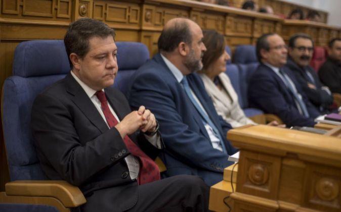 El presidente del Gobierno de Castilla-La Mancha, Emiliano...
