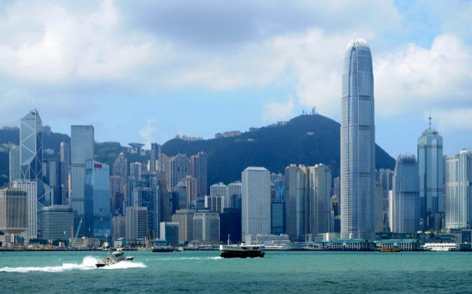 Vista de Ciudad Victoria, capital de Hong Kong.