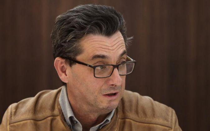 -El secretario general del PCE José Luis Centella.