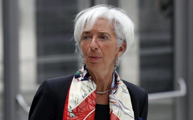 La directora gerente del FMI, Christine Lagarde, durante la...