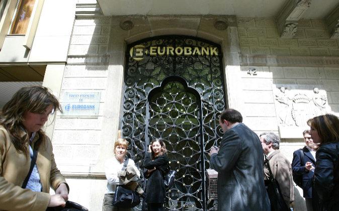 Imagen de archivo de la sede de Eurobank en Barcelona.