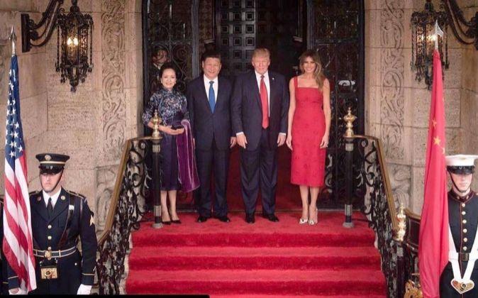 Donald Trump y Xi Jinping durante su encuentro este fin de semana.