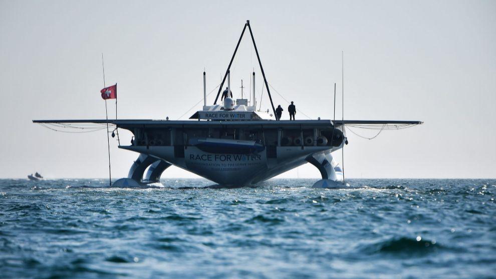 La embarcación 'Race for Water' de Marco Simeoni.