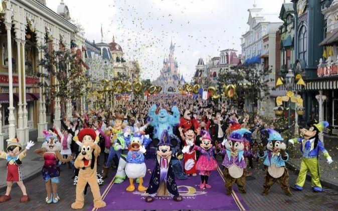 Imagen facilitada por Disneyland París de este `parque temático, el...