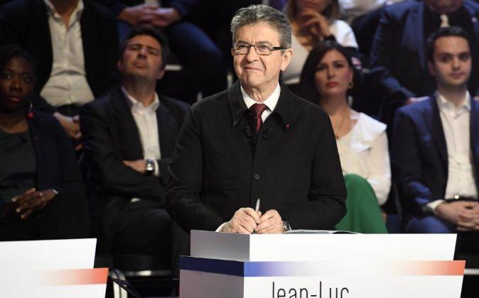 El candidato a las elecciones presidenciales francesas por la...