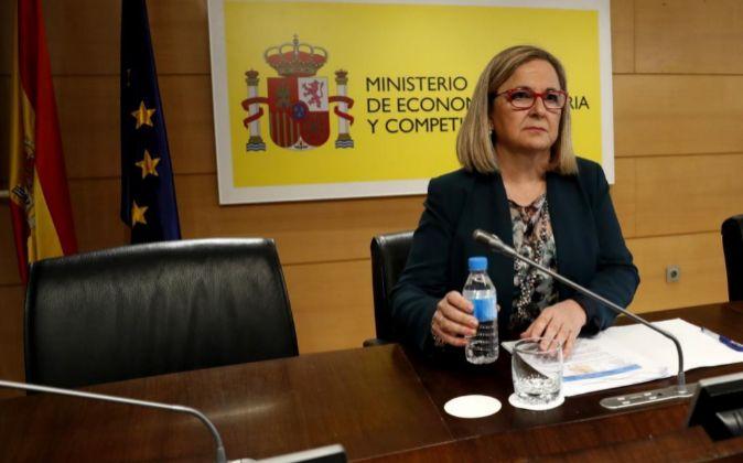La secretaria de Estado de Economía, Irene Garrido, hoy.