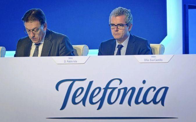 Junta de accionista de Telefónica con Pablo Isla. Foto: JMCadenas
