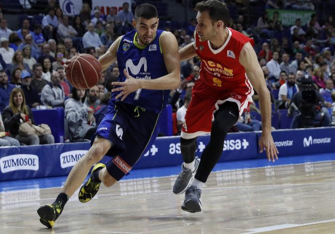 Imagen de un partido de liga ACB entre el Movistar Estudiantes y el...