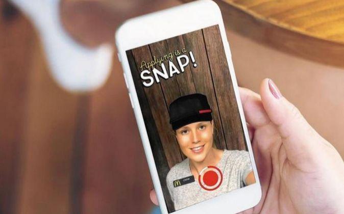 McDonald's usa Snapchat para buscar candidatos.
