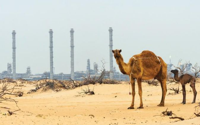 Refinería de la petrolera estatal saudí Aramco.