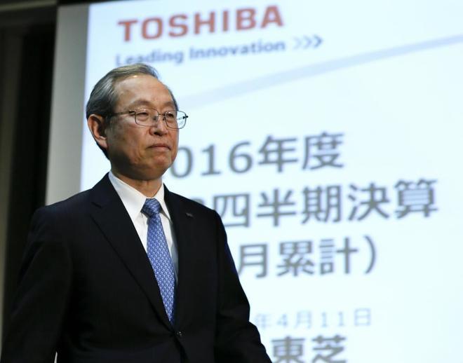 El presidente de Toshiba, Satoshi Tsunakawa.