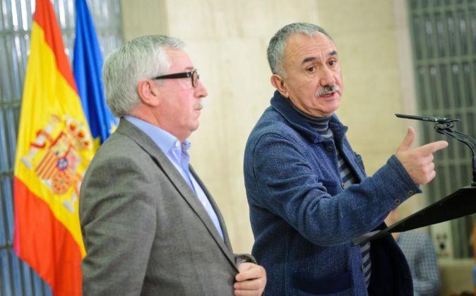 Reunión en el Ministerio de Empleo y de Seguridad Social: Ignacio...