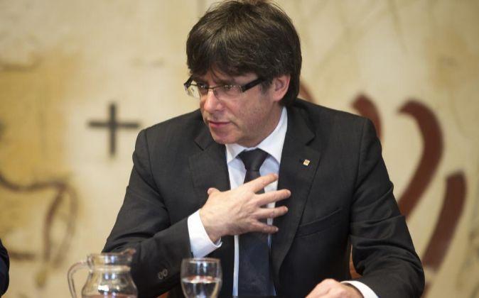 El presidente de la Generalitat de Cataluña Carles Puigdemont.