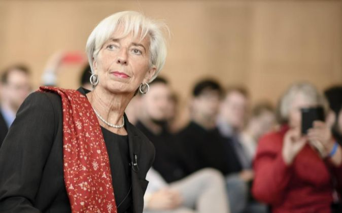 La directora gerente del Fondo Monetario Internacional (FMI) Christine...