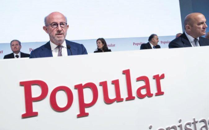 El presidente de Banco Popular Emilio Saracho.