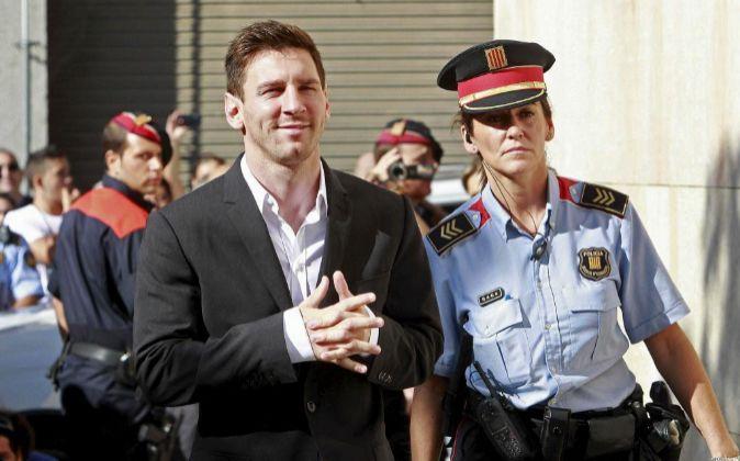 Foto de archivo del futbolista del F.C.Barcelona Lionel Messi en el...