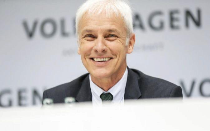 El CEO de Volkswagen, Matthias Müller.