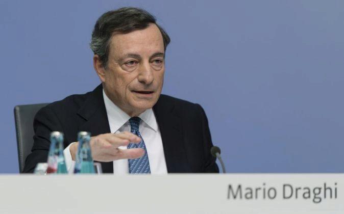Mario Draghi es el presidente del BCE