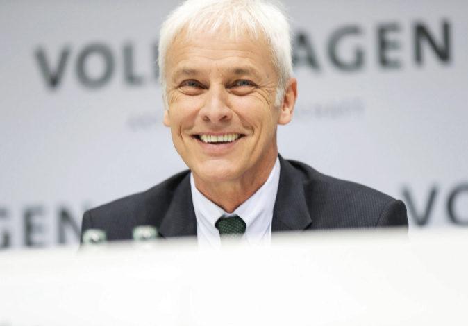 El CEO de Volkswagen, Matthias Müller, en una reciente rueda de...