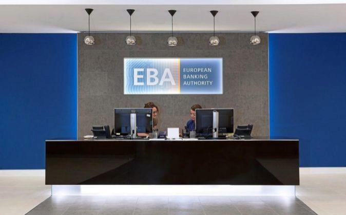 Recepción de la oficina de la EBA en Londres.