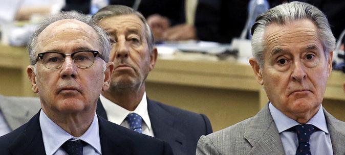 Rodrigo Rato y Miguel Blesa, expresidentes de Caja Madrid.