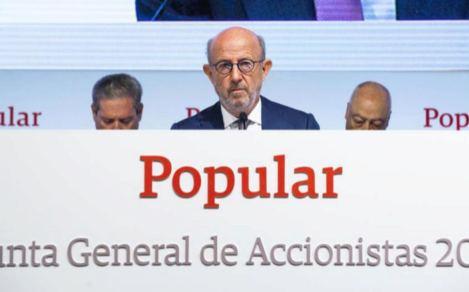 Junta de Accionistas de Banco Popular; Emilio Saracho.