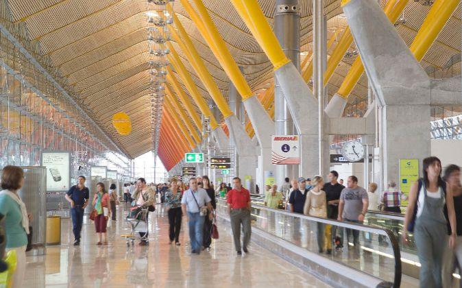 Interior del aeropuerto Adolfo Suárez Madrid-Barajas