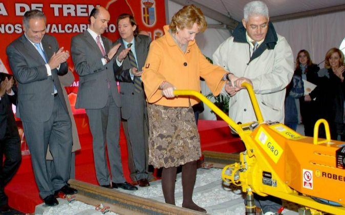 Esperanza Aguirre, al colocar en 2008 como presidenta de la Comunidad...