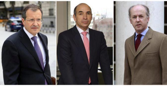 Antonio Fornieles, Manuel Sánchez y Felipe Benjumea.