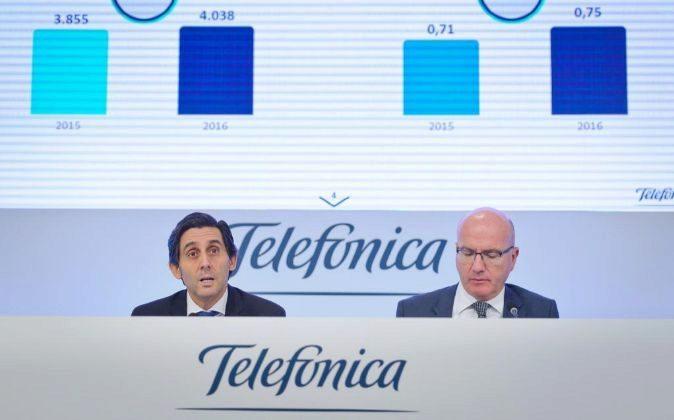 Presentación de resultados de Telefónica con su presidente, José...