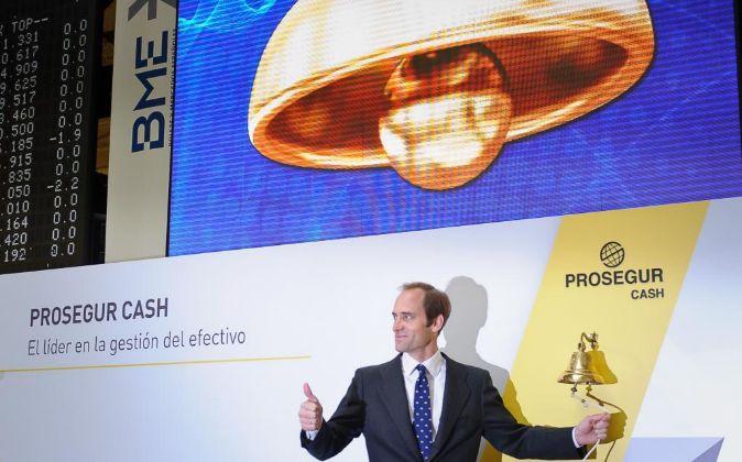 Imagen de la salida a Bolsa de Prosegur Cash