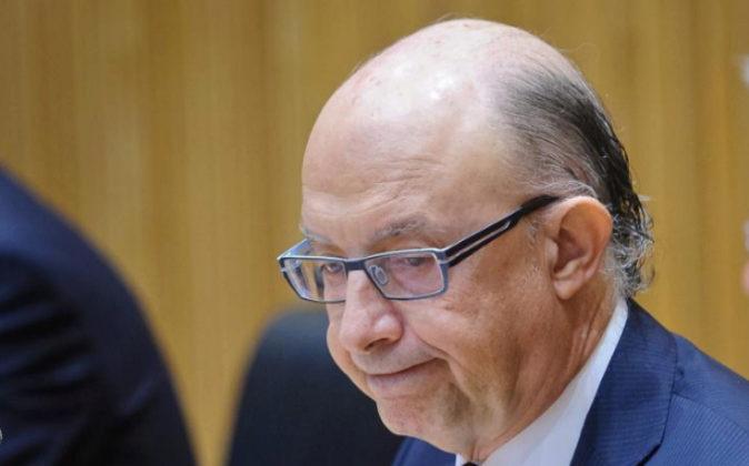 El ministro Cristóbal Montoro, durante la presentación de los PGE de...