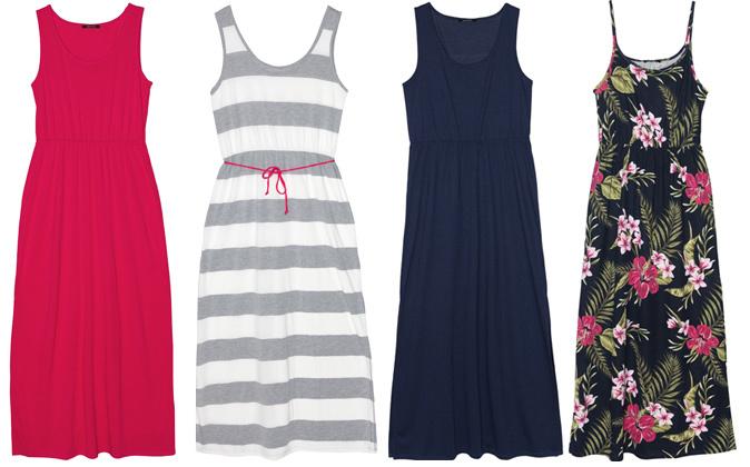 En la imagen vestidos de algodón de la nueva colección Tropical de...