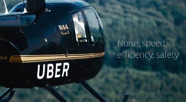 Imagen de una diapositiva mostrada hoy por Uber en Dallas durante la...